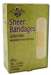 Bandages, Sheer, 40 CT, All Terrain