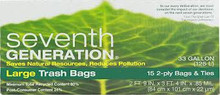Large Trsh, 33 Gal, 12 of 15 CT, Seventh Generation