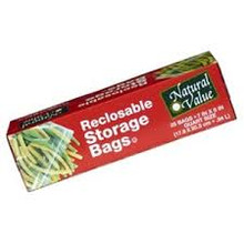 Storage Bags, Recloseable, Qt, 12 of 25 CT, Natural Value
