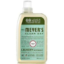 Detergent, Basil, 68 Loads, 6 of 34 OZ, Mrs Meyers Clean Day