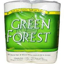 Bath Tissue, 2 Ply, White, Dbl Roll, 12 of 4 PK, Green Forest