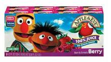 Bert & Ernie's Berry, 40 of  125ML, Apple & Eve