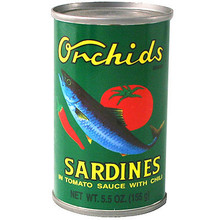 Sardines in Tomato Sauce 5.5 oz  From Orchids