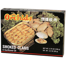 Orchids Smoked Clams 3.75 oz  From Orchids