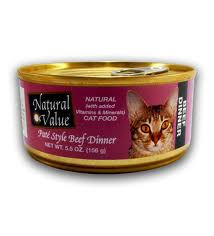 Beef, Pate Style, 24 of 5.5 OZ, Natural Value