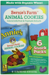 Animal Cookies Snack Pack 6 of 6 of 1 OZ From ANNIE`S HOMEGROWN