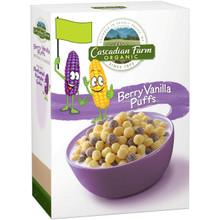 Berry Vanilla Puffs 12 of 10.25 OZ From CASCADIAN FARM