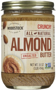 Almond Crunchy No Salt 12 of 16 OZ By WOODSTOCK