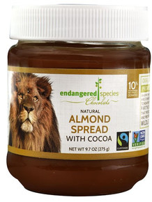 Almond Spread w/Cocoa 6 of 9.7 OZ From ENDANGERED SPECIES