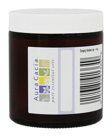 Amber Jar Wide Mouth Wrtbl Lbl 4 OZ By AURA CACIA