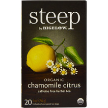 Chamomile Citrus Caffeine Free 6 of 20 BAG By STEEP BY BIGELOW