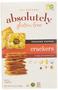 Crackers Cracked Pepper 12 of 4.4 OZ By ABSOLUTELY GLUTEN FREE