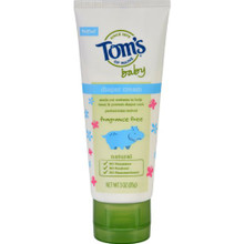 Diaper Cream,Baby,Fragrance Free 6 of 3 OZ By TOM`S OF MAINE