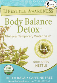 Body Balance Detox Tea 6 of 20 BAG By LIFESTYLE AWARENESS