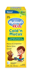 Cold & Mucus 4 Kids 4 OZ HYLANDS HOMEOPATHIC REMEDIES