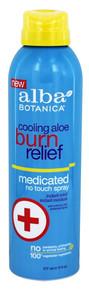 Cooling Aloe Burn Relief 6 OZ By ALBA BOTANICA