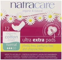 Ultra Extra Pads Normal W/Wings 12 CT From NATRACARE