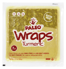 Paleo Wraps Turmeric GF 12 of 3.5 OZ By JULIAN BAKERY