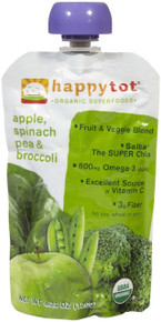 Apple/Spinach/Pea/Broccoli 16 of 4.22 OZ From HAPPY TOTS