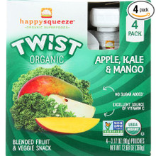 Apple Kale & Mango 4 of 4 of 3.17 OZ By HAPPY SQUEEZE