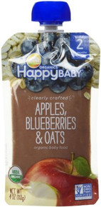Apple Blueberries & Oats 16 of 4 OZ By HAPPY BABY