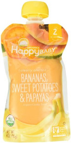 Bananas Swt Potatoes & Papaya 16 of 4 OZ By HAPPY BABY