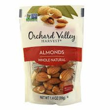 Almonds,Whole,Natural 14 of 1.4 OZ By ORCHARD VALLEY HARVEST