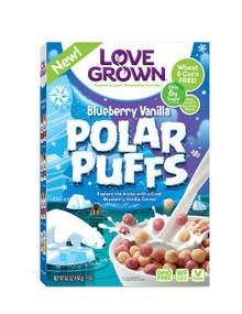 Blueberry Vanilla Polar Puffs 6 of 6.5 OZ By LOVE GROWN FOODS