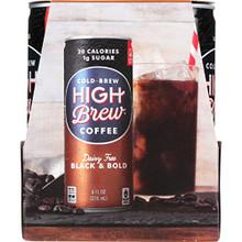 Black & Bold,RTD 6 of 4 of 8 OZ By HIGH BREW COFFEE