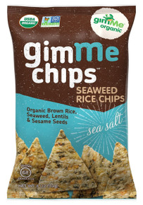 Seaweed Rice Chips Sea Salt 12 of 4 OZ From GIMME