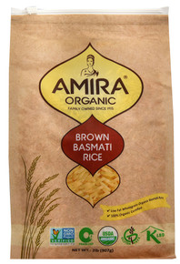 Basmati Rice Brown 6 of 2 LB By AMIRA
