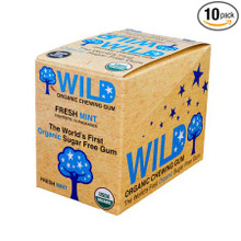 Fresh Mint,10 CT 10 of .53 OZ By WILD ORGANIC CHEWING GUM