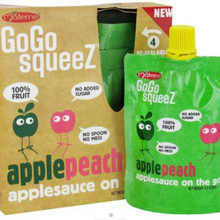 Apple Peach 12 of 4 of 3.2 OZ By GOGO SQUEEZ