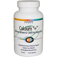 Calcium + 500 mg Calcium & 1,000 mg Magnesium 90 Tablets From Rainbow Light