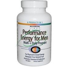 Performance Energy for Men Multi + Daily Program 90 Tablets From Rainbow Light
