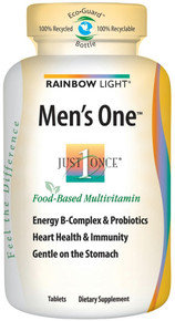 Just Once Men's One Energy Multivitamin 90 Tablets From Rainbow Light