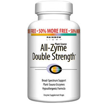 All-Zyme Double Strength Enzymes 60 vegicaps Rainbow Light