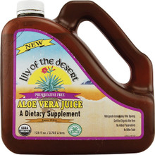 Aloe Vera Juice Preservative Free 128 oz Lily Of The Desert
