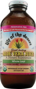 Aloe Vera Juice Whole Leaf Preservative Free 16 oz Lily Of The Desert