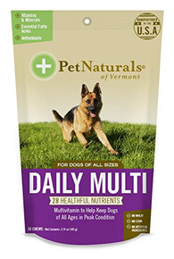 Daily Multi For Dogs 30 CHEW By Pet Naturals Of Vermont