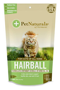 Hairball For Cats 30 CHEW By Pet Naturals Of Vermont