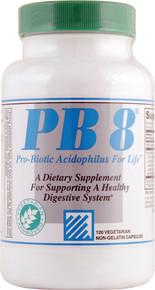 PB 8 Pro-Biotic Acidophilus 120 CapsulesVEGI  From Nutrition Now