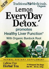 Lemon Everyday Detox Tea 16 Tea Bags Traditional Medicinals Teas