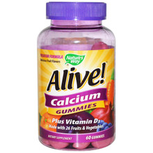 Nature's Way Alive! Calcium Gummies 60 Gummies