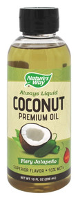Coconut Oil Fiery Jalapeno 10 OZ By Nature'S Way