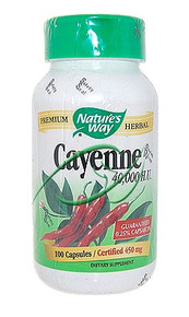 Cayenne & Pepper 100 Capsules 40,000 HU From Nature's Way