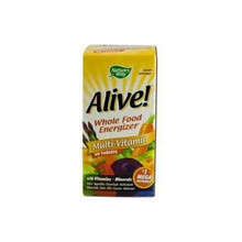 Alive! MultiVitamin Whole Food Energizer (with iron) 60 tabs from Nature's Way