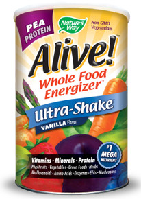 Alive! Rice & Pea Protein Shake Vanilla 1.3 lb from Nature's Way