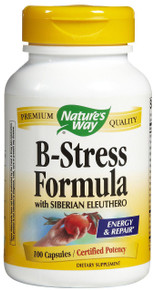 B-Stress Formula with Siberian Eleuthero 100 Capsules B Stress From Nature's Way