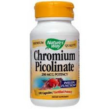 Chromium Picolinate 200mcg 60 Capsules Nature's Way